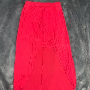 high low maxi skirt